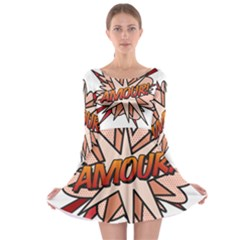 Comic Book Amour! Long Sleeve Skater Dress