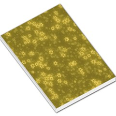 Snow Stars Golden Large Memo Pads