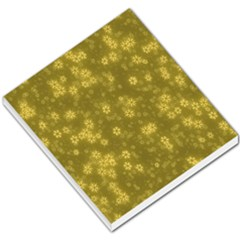 Snow Stars Golden Small Memo Pads
