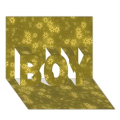 Snow Stars Golden Boy 3d Greeting Card (7x5)