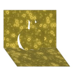 Snow Stars Golden Apple 3D Greeting Card (7x5)