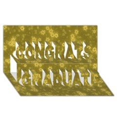 Snow Stars Golden Congrats Graduate 3d Greeting Card (8x4)