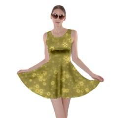 Snow Stars Golden Skater Dresses