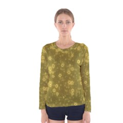 Snow Stars Golden Women s Long Sleeve T Shirts