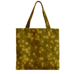 Snow Stars Golden Zipper Grocery Tote Bags