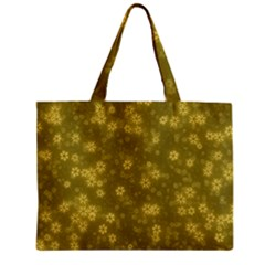 Snow Stars Golden Zipper Tiny Tote Bags