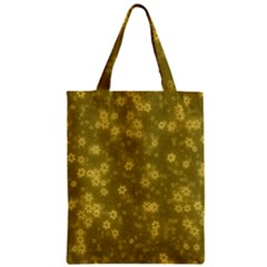 Snow Stars Golden Zipper Classic Tote Bags