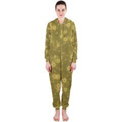 Snow Stars Golden Hooded Jumpsuit (Ladies)