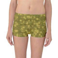 Snow Stars Golden Boyleg Bikini Bottoms