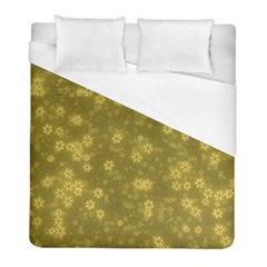Snow Stars Golden Duvet Cover Single Side (twin Size)