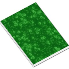 Snow Stars Green Large Memo Pads