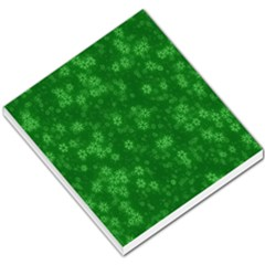 Snow Stars Green Small Memo Pads