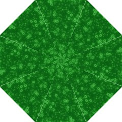 Snow Stars Green Hook Handle Umbrellas (large)