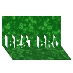 Snow Stars Green BEST BRO 3D Greeting Card (8x4)