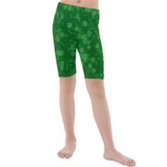 Snow Stars Green Kid s swimwear
