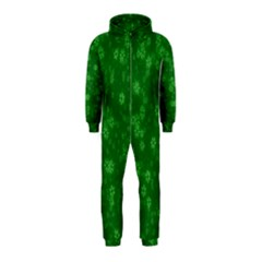 Snow Stars Green Hooded Jumpsuit (Kids)