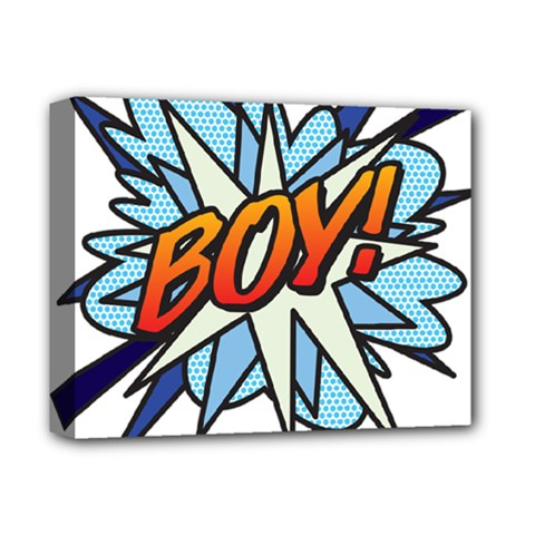 Comic Book Boy! Deluxe Canvas 14  X 11
