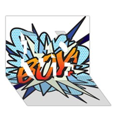 Comic Book Boy! LOVE 3D Greeting Card (7x5)