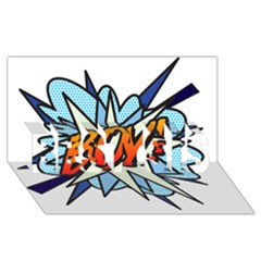 Comic Book Boy! Best Sis 3d Greeting Card (8x4)
