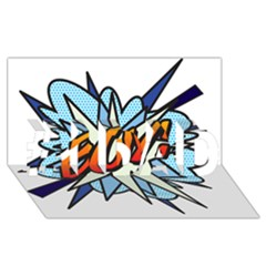 Comic Book Boy! #1 DAD 3D Greeting Card (8x4)