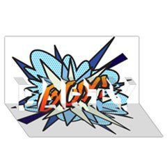 Comic Book Boy! Party 3d Greeting Card (8x4)