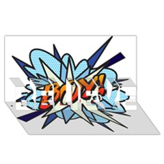 Comic Book Boy! BELIEVE 3D Greeting Card (8x4)