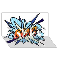 Comic Book Boy! SORRY 3D Greeting Card (8x4)
