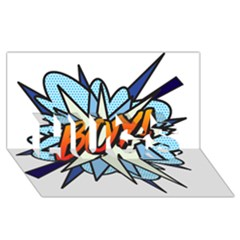 Comic Book Boy! HUGS 3D Greeting Card (8x4)