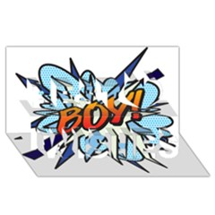 Comic Book Boy! Best Wish 3D Greeting Card (8x4)