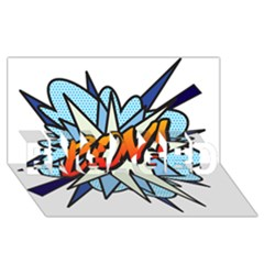 Comic Book Boy! ENGAGED 3D Greeting Card (8x4)