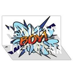 Comic Book Boy! Happy New Year 3D Greeting Card (8x4)