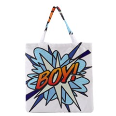 Comic Book Boy! Grocery Tote Bags