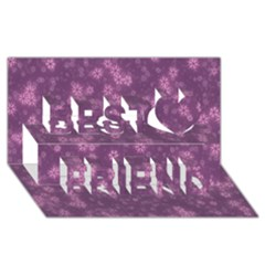 Snow Stars Lilac Best Friends 3D Greeting Card (8x4)
