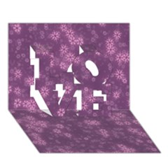 Snow Stars Lilac Love 3d Greeting Card (7x5)