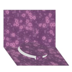 Snow Stars Lilac Circle Bottom 3D Greeting Card (7x5)