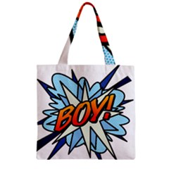 Comic Book Boy! Zipper Grocery Tote Bags