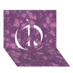 Snow Stars Lilac Peace Sign 3d Greeting Card (7x5)