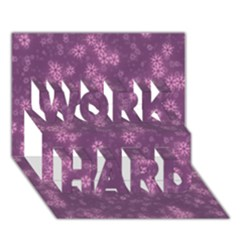 Snow Stars Lilac WORK HARD 3D Greeting Card (7x5)