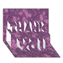 Snow Stars Lilac THANK YOU 3D Greeting Card (7x5)