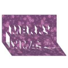 Snow Stars Lilac Merry Xmas 3D Greeting Card (8x4)