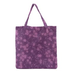Snow Stars Lilac Grocery Tote Bags