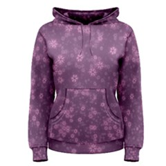 Snow Stars Lilac Women s Pullover Hoodies