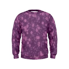 Snow Stars Lilac Boys  Sweatshirts