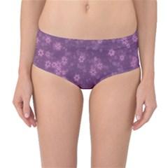 Snow Stars Lilac Mid-Waist Bikini Bottoms