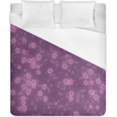 Snow Stars Lilac Duvet Cover Single Side (double Size)