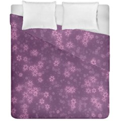 Snow Stars Lilac Duvet Cover (double Size)