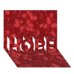 Snow Stars Red HOPE 3D Greeting Card (7x5)