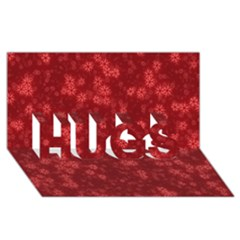 Snow Stars Red Hugs 3d Greeting Card (8x4)