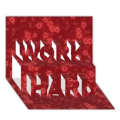 Snow Stars Red WORK HARD 3D Greeting Card (7x5)