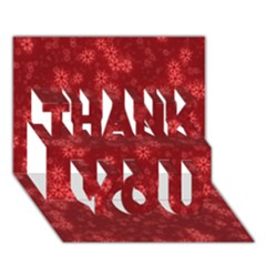 Snow Stars Red Thank You 3d Greeting Card (7x5)